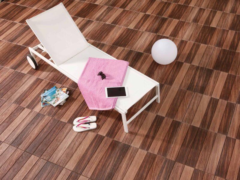 LeichtRein Betonplatte Holzparkett | Gartenplatte