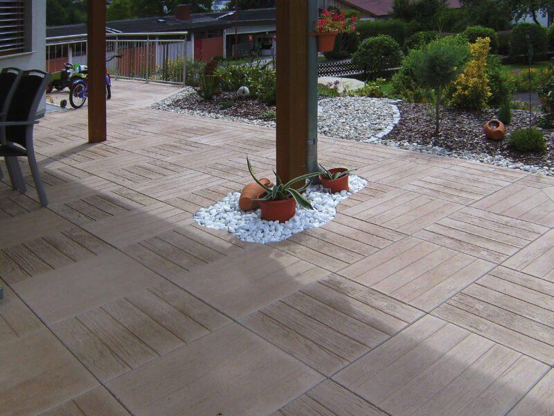 LeichtRein Betonplatte Woodstones | Gartenplatte