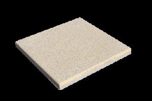 Steinplatte Landhaus Sandgelb 40x40