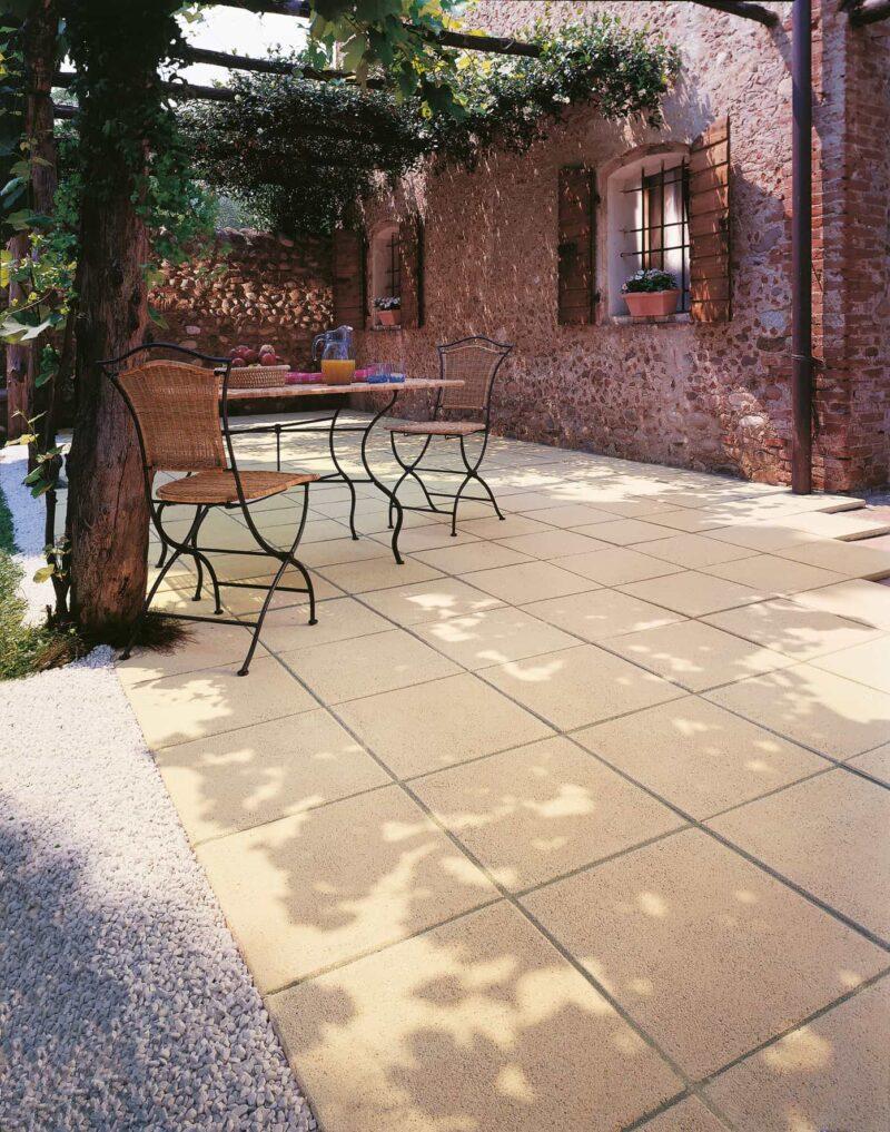 Steinplatte Landhaus | Gartenplatte