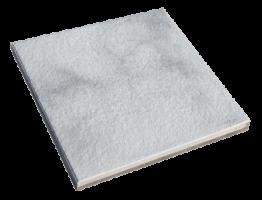 Trend Steinplatte Kreideweiß marmoriert