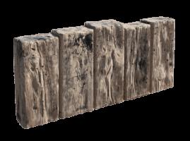 Versteinertes Holz - Gartenplatte aus Spezialbeton