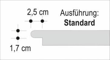 Häusler Sichtkanten als Stufenlösung Standard