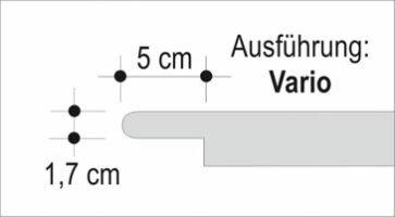 Häusler Sichtkanten als Stufenlösung Vario